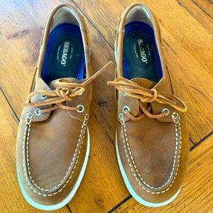 Sebago Women's Brown Leather Litesides Boat Shoe